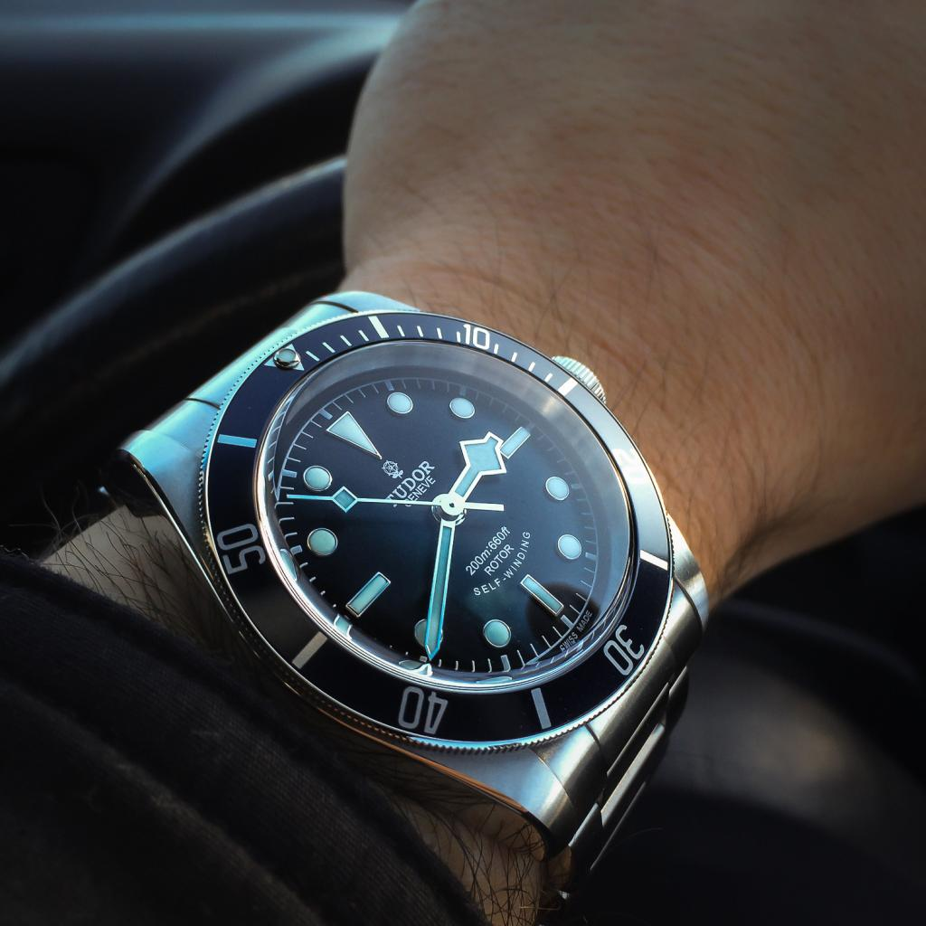 tudor black shield falso